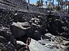 TRAVEL SHOW strong siss DRIVER - Walk along the beaches of Gran Canaria with Sasha Bikeeva in a micro-bikini. From San Agustin to Maspalomas