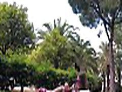 TRAVEL SHOW son caught by mommy DRIVER - Valencia. Relax in Turia park with Sasha Bikeeva. Jard&iacuten del Turia Part 5