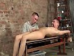 Young dominant male torments helpless sub twink