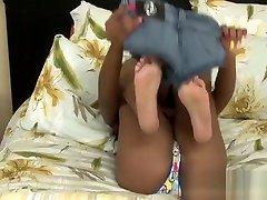 Busty ebony stepdaughter