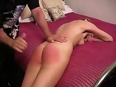 Hot girl stripped and Spanked to tears