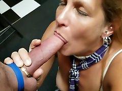 Mature Schoolgirl Daizy Layne Deepthroats,Swallows,Sucks a Huge Cock ..POV