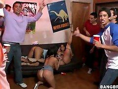 BANGBROS - teen fucks cop Pornstar Asa Akira & Friends Invade College Dorm!