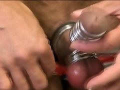 Gay asian fetish binds cock