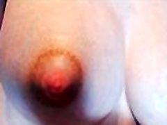 Milking my tits with milkpump www.myclearsky.livemyclearsky