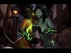 Warcraft Draeneis Kissing and Handjob Animation WSound