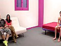 19yo petite teen enjoys Jordi&039s dick while her boyfriend watches