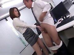 Japanese hot teacher fucks old co worker