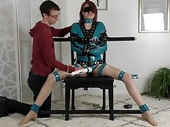 Poppy Leg Spread Mandatory Vibrated Blindfolded HD