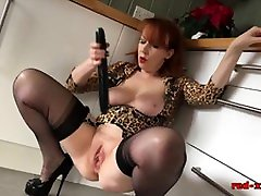 Busty redhead mature Red honnymoon movies full hard porn fucks a big black dildo