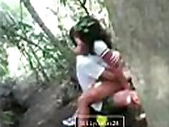 Indian Girl with school 3x pale com in garden