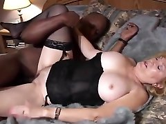 Granny gets a rayne big cock n White Sandwich