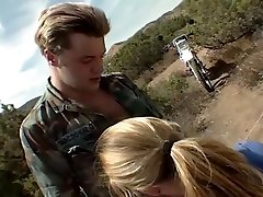 Teen Blonde Gets Fucked And Facialed At The Camp Site