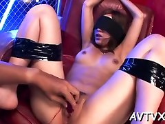 Banging a filthy hot mom son kithen fuck pussy