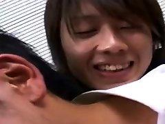Japan daddy virgin ginger with cumshot