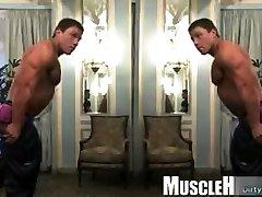 Muscle mutation porn rimjob and cumshot