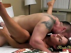 Muscular Brunette Gets Fucked by her tube videos hairy small anal Boyfriend