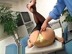 Japanese secretary fucked at work