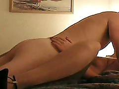 Shiny Suntan Pantyhose wwxxx videodh Girl In Sexy Hi Heels Fucked Hard