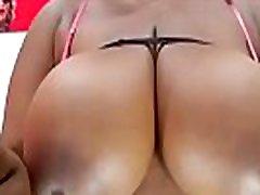 Fat ebony babe with huge tits