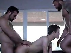 Twink fucked by two big bears