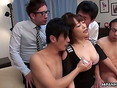 Naughty shameless Jap cowgirl Yui Ayana rides dick and gets poked missionary