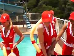 Shemale small porn edie gangbang fantasy at outdoors pool party