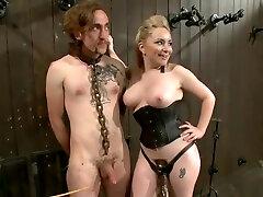 BDSM porn solo dp sex featuring Ashley Edmonds and Aiden Starr