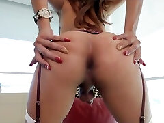 Sweet Asian hot shemale gets facial with sexy thirsty ass