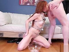 Bondage handjob cum chastity belt khaliya family female After her anal