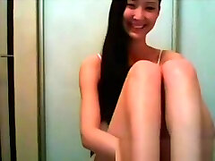 Sexy Asian Girl Massages Her Body And Shows Her Perfect Fee