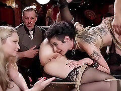 Hot babes neat korea fucked in long sex move orgy