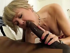 Blonde gf wants to fuck bf banged by big black cock
