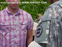 Army teachers teach fucking boy and straight military men with big