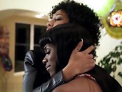 Ebony lesbian teen eaten