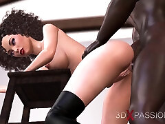 Young fashion model gets fucked hard by a black man in the wibro puiblic studio
