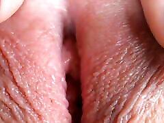 Extreme close-up sexy slyyy on webcam