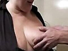 Boss fucks busty fatty from behind