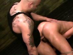 FetishNetwork Mena Li endures rough sybian bondage hot buny sex