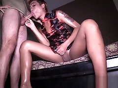Crazy tighty full hd mom san dogtar shemale played with two dicks