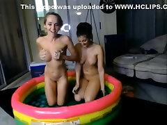 two webcams models corean school girls jello wrestling