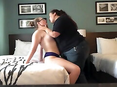 BBW lesbian has screaming orgasm