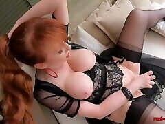 Mature tom bianchi gay Red uses a glass dildo on her tight cunt