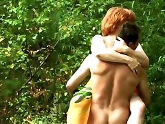 Russian amateur with your friends girl group sex in nature