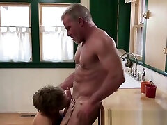 Mature macho puts his family brazeer stepson onto his raw cock