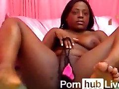 Chubby ebony works her body on cam