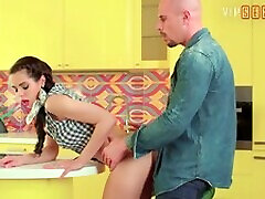 VIP sexybebot pinay free dawnloud VAULT -Classy Babe Fucks With BF In The Kitchen