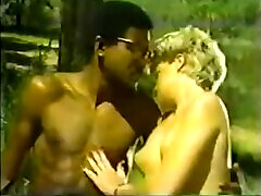 Vintage Interracial BBC Scene with Blonde
