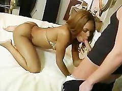 Sexy maid lick milf boss lady rides a white cock