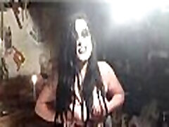 White Gardenia - beautiful girl playing with her breasts excerpt goth girl black metal gothic huge titties nipples domination